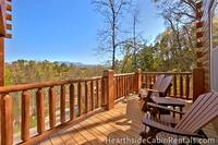 Mountain Top Retreat cabin in Pigeon Forge with private deck.