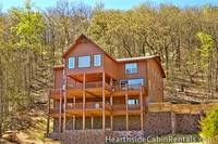 Full view of the 8 bedroom cabin in Pigeon Forge Mountain Top Retreat.