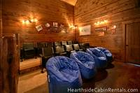 Pigeon Forge cabin with home theater room and 8 bedrooms Mountain Top Retreat