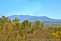 Scenic views from the private deck at Pigeon Forge cabin Mountain Top Retreat.