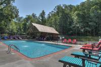 Seasonal outdoor pool at the Wildbriar Resort near Gatlinburg