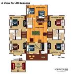 Third floor layout plan of A View For All Seasons Cabin near Gatlinburg