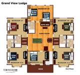 Floor plan of the third floor of Grand View Lodge cabin in Pigeon Forge