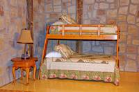 Bunk beds in the cabin in Pigeon Forge