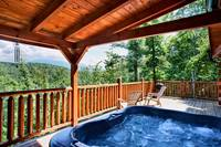 Hot tub at this 2 bedroom cabin with mountain views located between Pigeon Forge and Gatlinburg