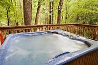 Bubbling hot tub on the deck of Leprechaun Island