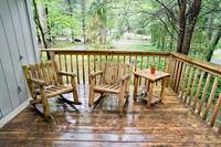 Wooden porch furniture