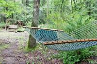 Relax in the nature of this outdoor hammock