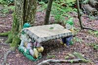 Gnome statues of Leprechaun Island