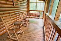 Rocking chairs at Barefoot Dreams - 2 Bedroom cabin near Pigeon Forge