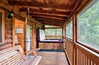 Hot tub and porch swing
