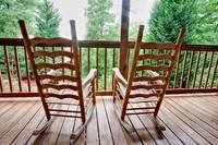 Rocking chairs that overlook the National Park