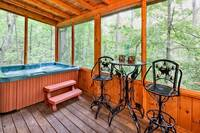 Hot tub with chairs and table
