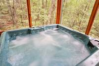 Bubbling hot tub on the deck