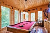 Billiards tablein this 2 bedroom cabin near Pigeon Forge