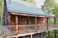 Country Hideaway is a 2 bedroom cabin near Dollywood in Pigeon Forge