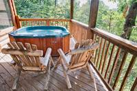 Above the Clouds - 2 bedroom Gatlinburg Cabin - Heartland Cabin Rentals - Chairs and Hot Tub