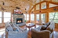 Above the Clouds - 2 bedroom Gatlinburg Cabin - Heartland Cabin Rentals - Enjoy Fire Place