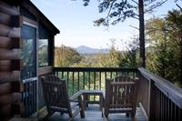 Enjoy the mountain views from the deck chairs