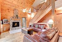 Living room with gas fireplace and wireless internet throughout