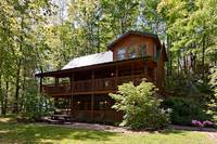 Across the Smokies - the exterior view of this 3 bedroom Gatlinburg cabin rental