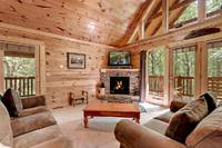 Across the Smokies - flat screen tv and fireplace - Gatlinburg cabin rental