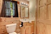 Across the Smokies - bathroom room of this 3 bedroom Gatlinburg cabin rental