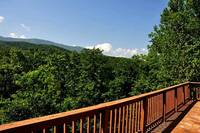 Spacious deck with views of the mountains
