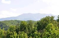 Mountain views from Dolly Bear cabin in Pigeon Forge