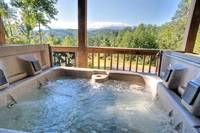 Amazing mountain views from the hot tub!