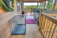 Pet crate at this pet friendly cabin in Pigeon Forge