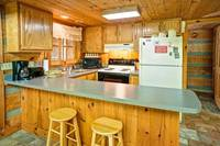 Full kitchen in this Gatlinburg cabin rental