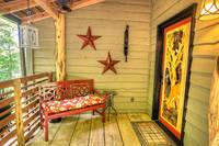 Aspen's Hideaway front door - 1 bedroom cabin in between Gatlinburg and Pigeon Forge