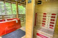 Aspen's Hideaway - Relax in the sauna of this 1 bedroom cabin in between Gatlinburg and Pigeon Forge