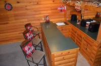 Wet bar at this 1 bedroom cabin in Wears Valley