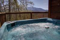Hot Tub with a mountain View - Heartland Cabin Rentals - 2 bedroom Gatlinburg Cabin