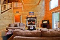 Living Room of Amazing Views cabin in Gatlinburg