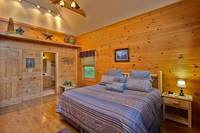 Guest Bedroom of Amazing Views - Heartland Cabin Rentals
