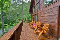 Relax in the Chairs on the Deck of Amazing Views cabin in Gatlinburg