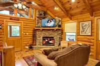 Studio Cabin with Fireplace - Wears Valley Cabin - Heartland Cabin Rentals