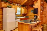 Full Kitchen - Wears Valley Tennessee - 1 bedroom Cabin Rental