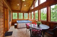 Screened in Deck of Smokey Trails - Wears Valley Cabins for Rent - Heartland Cabin Rentals