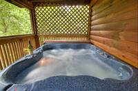 1 bedroom Pet Friendly Cabin - Hot tub on the deck