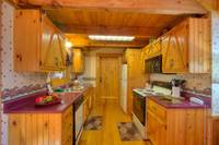 Full Kitchen of Southern Comfort 2 bedroom Pigeon Forge cabin rental