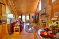Living Room of this 2 bedroom cabin rental in Pigeon Forge