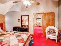 King size bed in Cub Crossing - Affordable cabin rental near Pigeon Forge