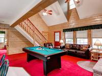 Living Room of Cub Crossing in Wears Valley, TN - nearby Pigeon Forge, TN