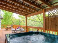 A nice hot tub to relax in after a day hiking in the Great Smoky Mountains or shopping in Pigeon Forge