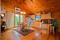 Full kitchen in this one bedroom Pigeon Forge cabin