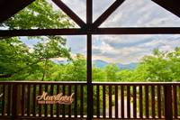 Mountain views from the outside deck